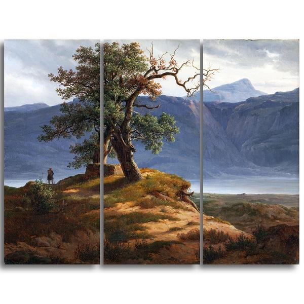 Design Art 'Thomas Fearnley - Landscape with Wanderer' Canvas Art Print