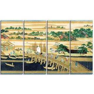 Design Art 'Sumiyoshi - Famous Sites of the Sumida River' Large Asian Canvas Art