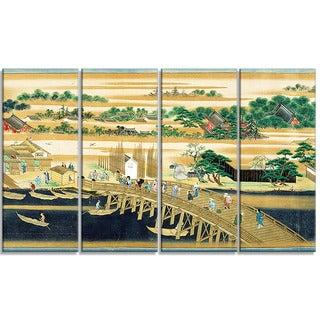Design Art 'Sumiyoshi - Famous Sites of the Sumida River' Large Asian Canvas Art