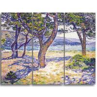 Design Art 'Theo Van Rysselberghe - The Mediterranean' Canvas Art Print