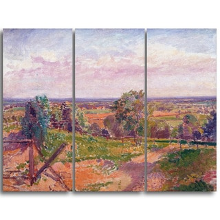 Design Art 'Spencer Frederick - A Landscape in Yorkshire' Canvas Art Print