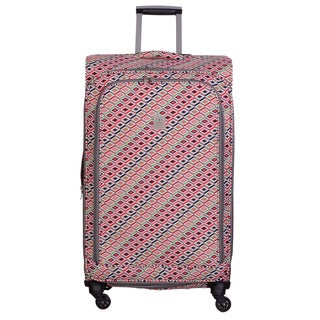Jenni Chan Tiles 28-inch Upright Spinner Suitcase