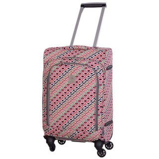 Jenni Chan Tiles 20-inch Upright Spinner Suitcase