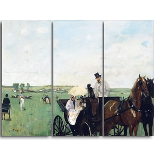 Design Art 'Edgar Degas - At the Races in the Countryside' Landscape Canvas Art Print
