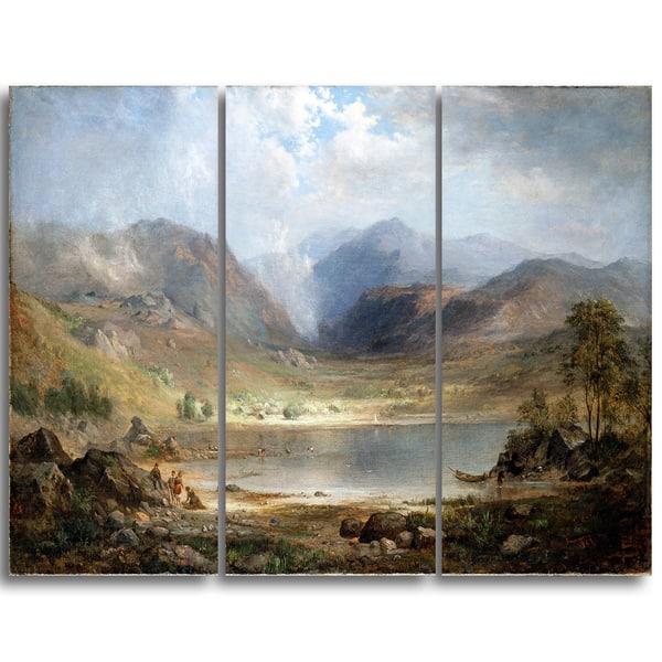 Design Art 'Robert Duncanson - Loch Long' Landscape Canvas Art Print -  Multi-color