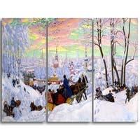 Design Art 'Boris Kustodiev - Shrovetide' Master Piece Landscape Artwork