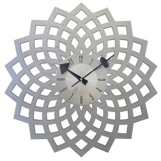 Mid-century Vintage 20-inch Wood Kaleidoscope Petal Clock