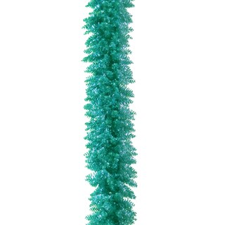 Turquoise 6-foot Tinsel Garland