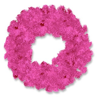 Pink 24-inch Tinsel Wreath