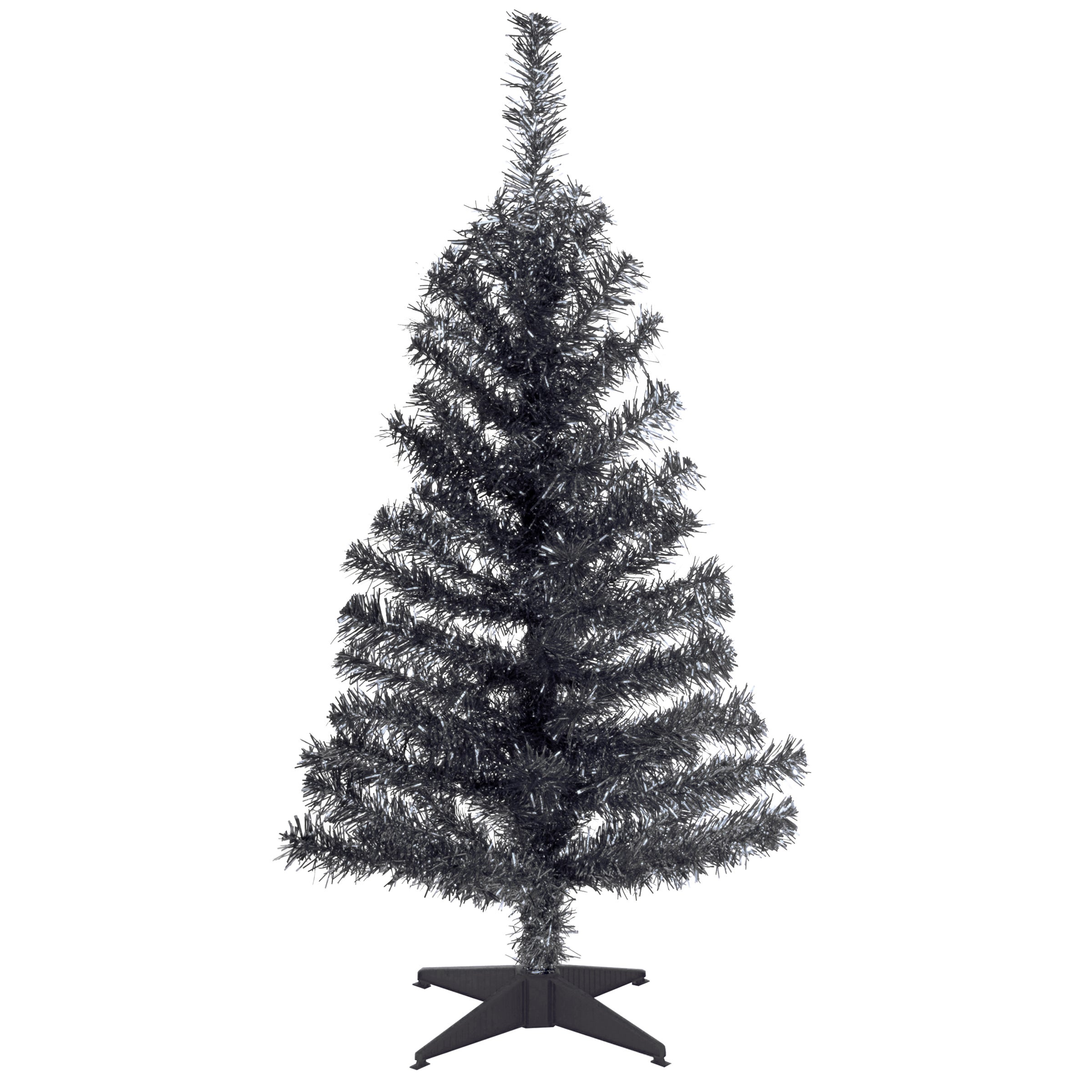 National Tree Black 3-foot Tinsel Tree (3 ft. Tinsel Tree...