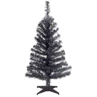 Black 3-foot Tinsel Tree