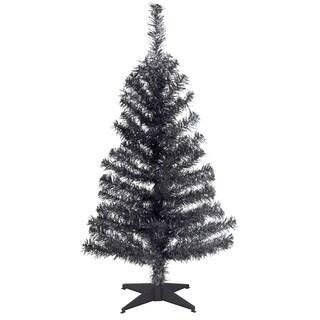 Black 3-foot Tinsel Tree