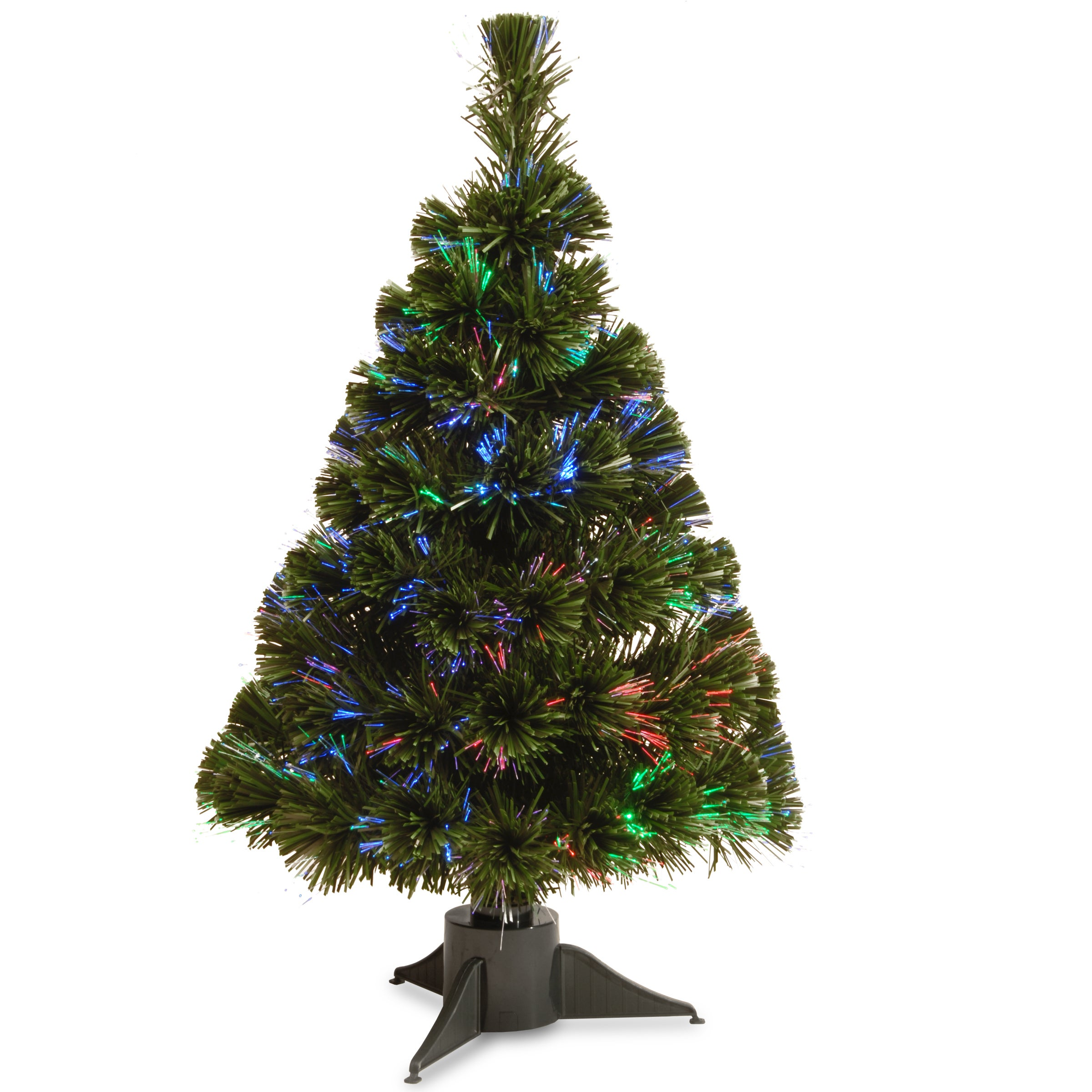 National Tree 24-inch Battery Operated Fiber Optic Ice Tr...