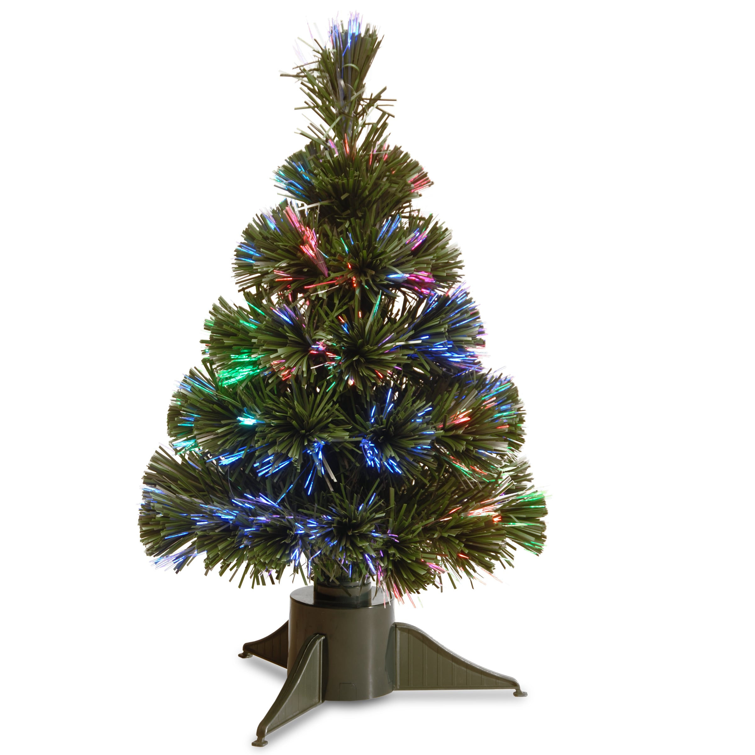 National Tree 18-inch Battery Operated Fiber Optic Ice Tr...
