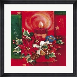 DBK-Art Licensing 'Red Candle and Pointsettia' Framed Art