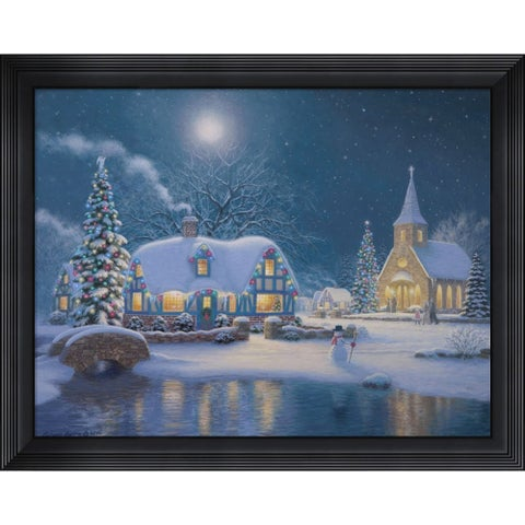 Richard Burns 'Moonlight Glow' Framed Art