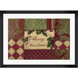 Color Bakery 'Merry Christmas Patchwork I' Framed Art