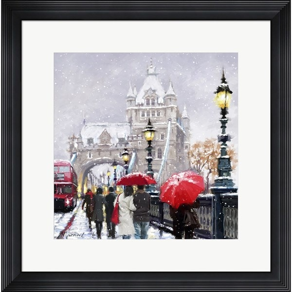 The Macneil Studio 'Tower Bridge In Snow' Framed Art