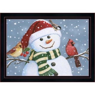William Vanderdasson 'Santa Snowman' Framed Art