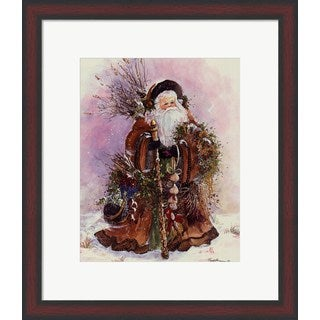 Peggy Abrams 'Santa's Bounty' Framed Art