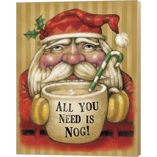 Margaret Wilson 'Santa Mug' Canvas Art