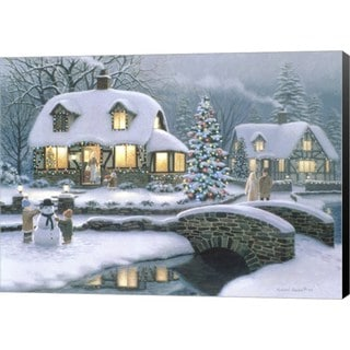 Richard Burns 'Christmas Eve At Holbrook Cottage' Canvas Art