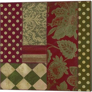 Color Bakery 'Merry Christmas Patchwork III' Canvas Art