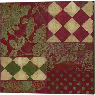 Color Bakery 'Merry Christmas Patchwork II' Canvas Art