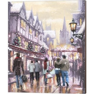 The Macneil Studio 'Christmas Shoppers' Canvas Art
