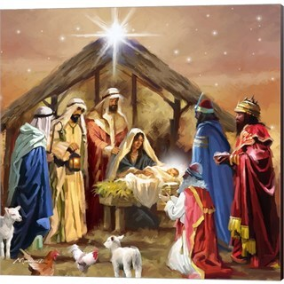 The Macneil Studio 'Nativity Collage' Canvas Art