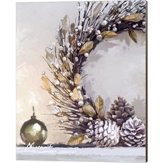 The Macneil Studio 'Gold Wreath' Canvas Art
