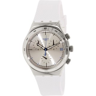 Swatch Men's Irony YCS584 White Rubber Swiss Quartz Watch
