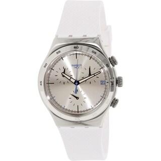 Swatch Men's Irony YCS584 White Rubber Swiss Quartz Watch