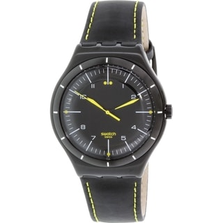 Swatch Men's Irony YWB100 Black Leather Swiss Quartz Watch