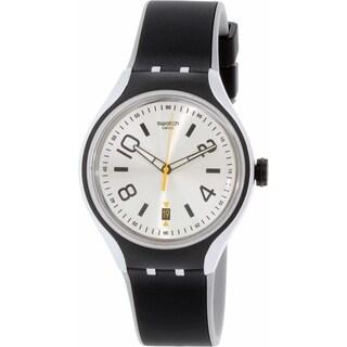 Swatch Men's Irony YES4010 Black Silicone Swiss Quartz Watch