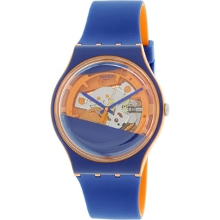 Swatch Men's Originals SUOO102 Blue Silicone Swiss Quartz Watch