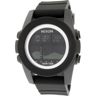 Nixon Men's Unit Tide A282000 Black Silicone Quartz Watch