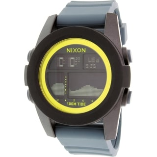 Nixon Men's Unit Tide A2822058 Grey Silicone Quartz Watch