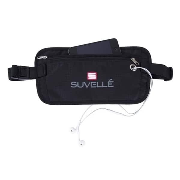 5eb10ec3daf Shop Suvelle RFID-Blocking Anti-Theft Hidden Waist Belt Travel Pouch ...
