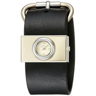 Marc Jacobs Women's 'Viv' Black Leather Watch
