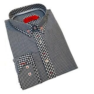 Elie Balleh Milano Men's Black Gingham Slim Fit Shirt (2 options available)
