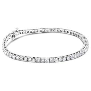 14k White Gold 8ct TDW Round Diamond Tennis Bracelet (H-I, SI2-I1)