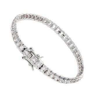 Nexte Jewelry Brass Square Cubic Zirconia Tennis Bracelet