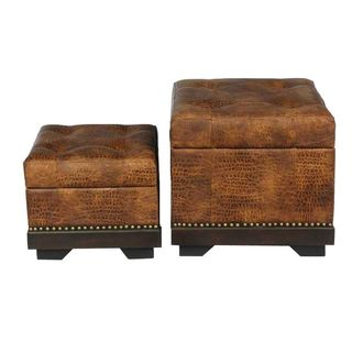 Leather Ottoman 2 Pc