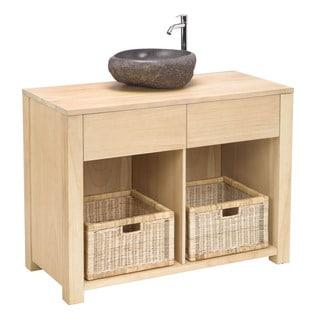 Elegance Natural Wood Basin Cabinet