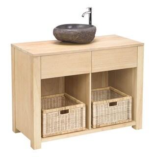 Elegance Natural Wood Basin Vanity cabinet