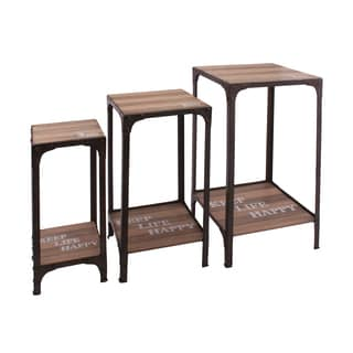 Otley Plant Stands with Bottom Shelf (Set of 3)