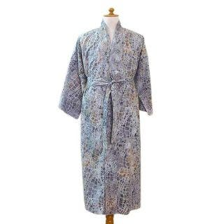 Handmade Men's Cotton Batik 'Bull Snake' Robe (Indonesia)|https://ak1.ostkcdn.com/images/products/10660409/P17726314.jpg?impolicy=medium