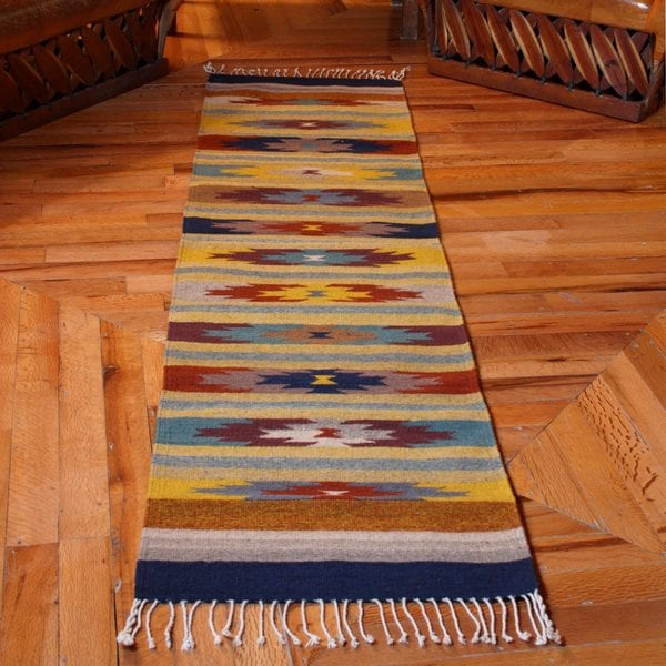 Mexican Rug Images: Handmade Wool 'Fall Foliage' Zapotec Rug 2x8 (Mexico