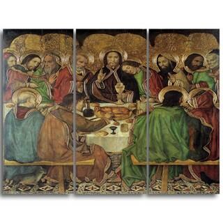Design Art 'Jaume Huguet - Last Supper' Religious Canvas Art Prints